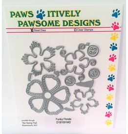 Paws-Itively Pawsome Designs Funky Florals - Die