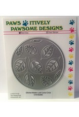 Paws-Itively Pawsome Designs Stitched Modern Leaf Cutout Circle - Die