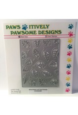 Paws-Itively Pawsome Designs Stitched Modern Leaf Cutout Rectangle - Die