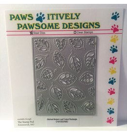 Paws-Itively Pawsome Designs Stitched Modern Leaf Cutout Rectangle