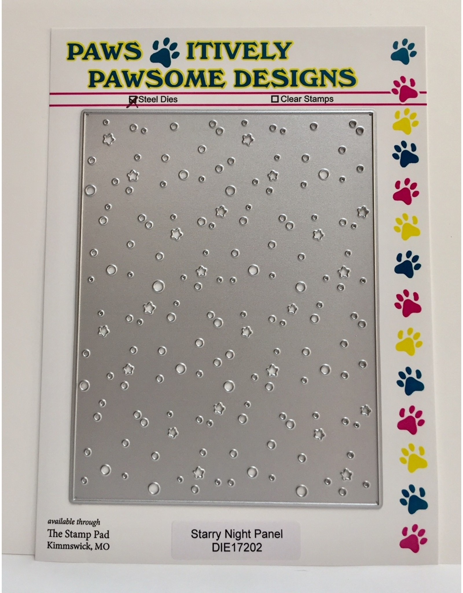Paws-Itively Pawsome Designs Starry Night Panel - Die