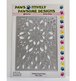 Paws-Itively Pawsome Designs Quilted Floral Panel
