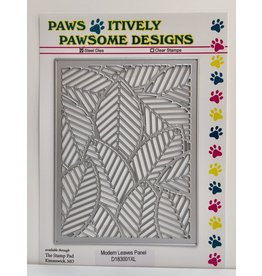 Paws-Itively Pawsome Designs Modern Leaves Panel - Die