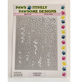 Paws-Itively Pawsome Designs Confetti Panel - Die
