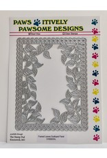 Paws-Itively Pawsome Designs Framed Leaves Scalloped Panel - Die