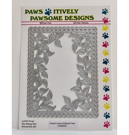 Paws-Itively Pawsome Designs Framed Leaves Scalloped Panel