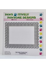 Paws-Itively Pawsome Designs Open Scallop Threading Panel - Die