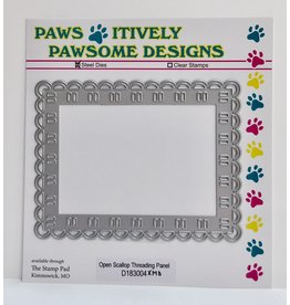 Paws-Itively Pawsome Designs Open Scallop Threading Panel
