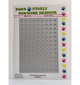 Paws-Itively Pawsome Designs Fluttering Stitched Lattice Panel
