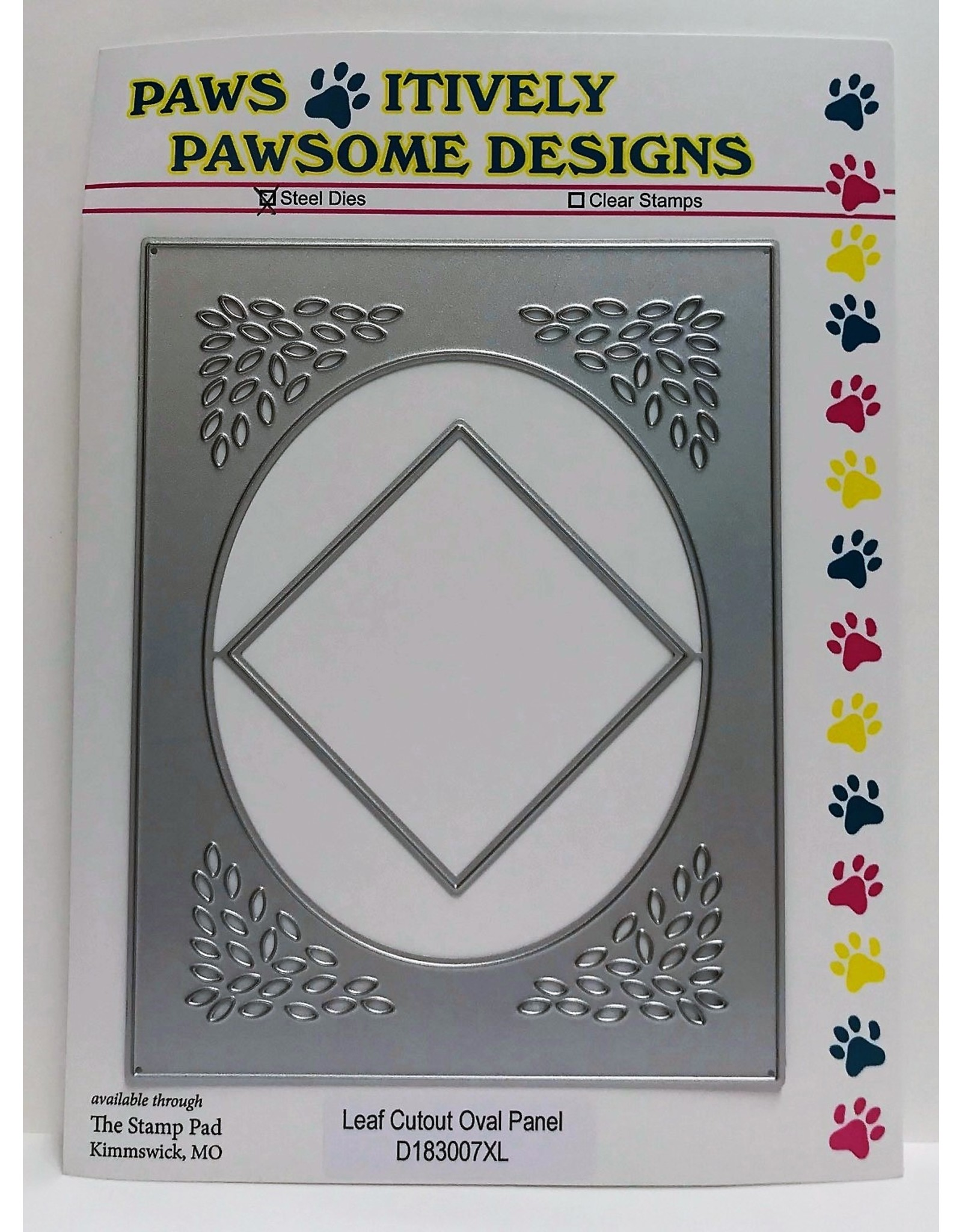 Paws-Itively Pawsome Designs Leaf Cutout Oval Panel - Die