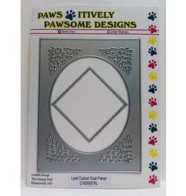 Paws-Itively Pawsome Designs Leaf Cutout Oval Panel