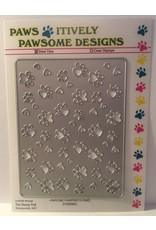 Paws-Itively Pawsome Designs Pawsome Pawprints Panel - Die