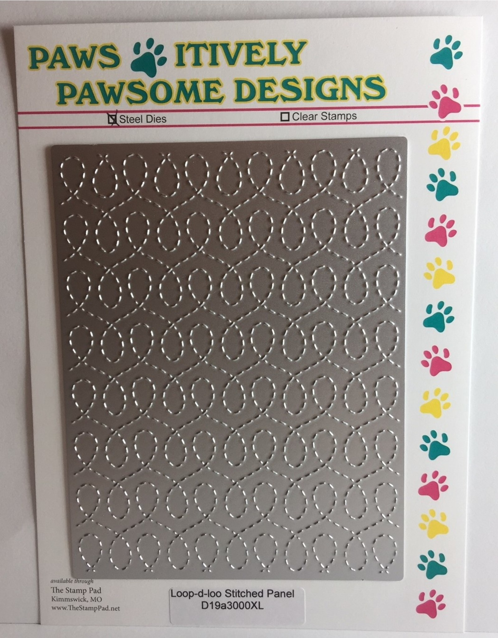 Paws-Itively Pawsome Designs Loop-d-loo Stitched Panel - Die