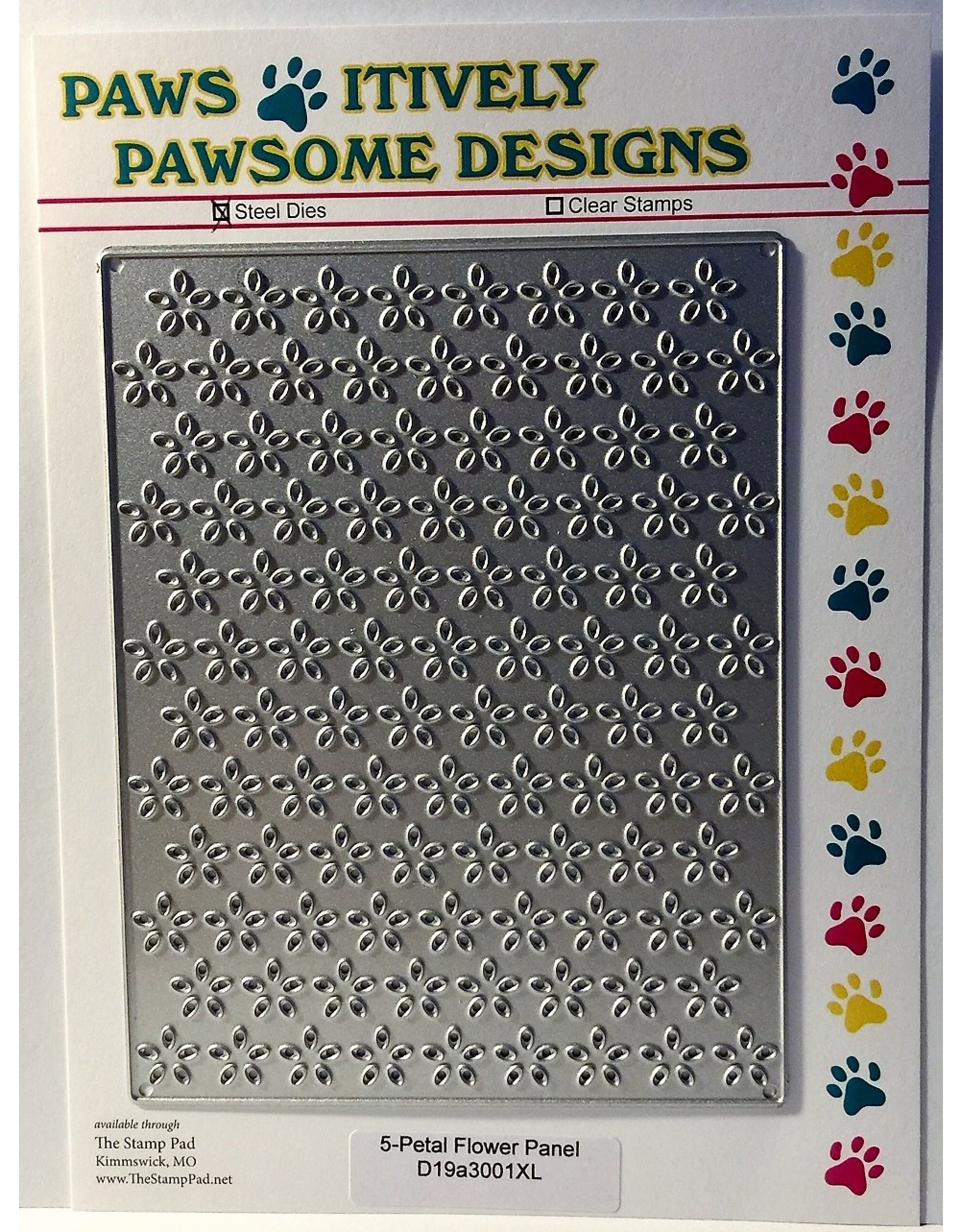Paws-Itively Pawsome Designs 5-Petal Flower Panel - Die