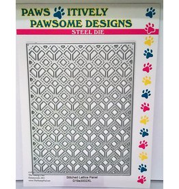 Paws-Itively Pawsome Designs Stitched Lattice Panel