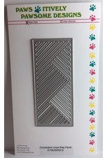 Paws-Itively Pawsome Designs Crosshatch Lined Strip Panel - Die