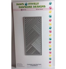Paws-Itively Pawsome Designs Crosshatch Lined Strip Panel