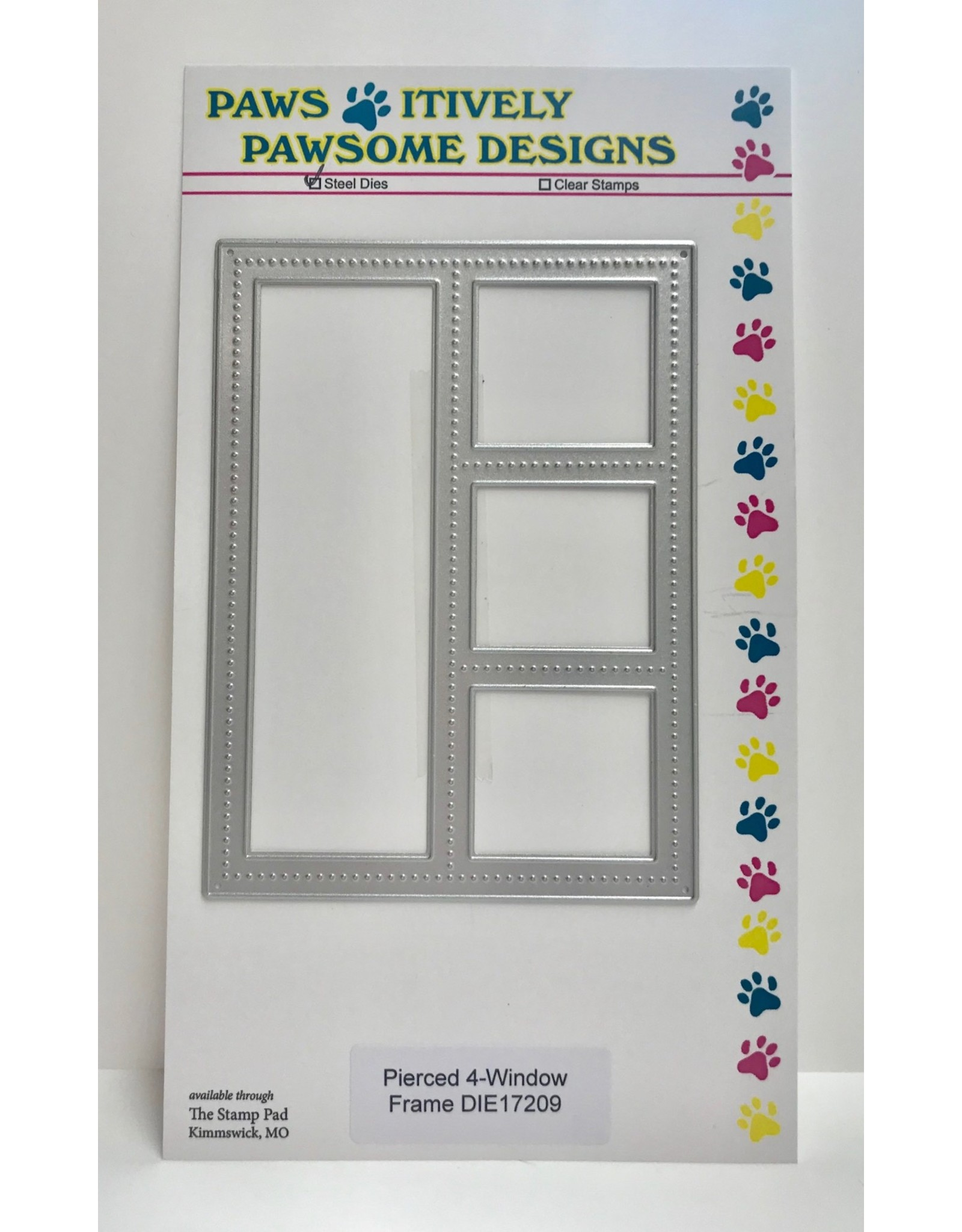 Paws-Itively Pawsome Designs Pierced 4-Window Frame - Die