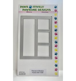Paws-Itively Pawsome Designs Pierced 4-Window Frame