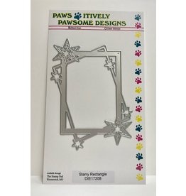 Paws-Itively Pawsome Designs Starry Rectangle - Die
