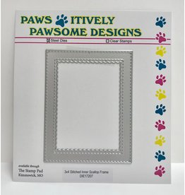 Paws-Itively Pawsome Designs 3x4 Stitched Inner Scallop Frame