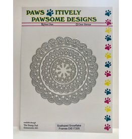 Paws-Itively Pawsome Designs Scalloped Snowflake Frames - Die