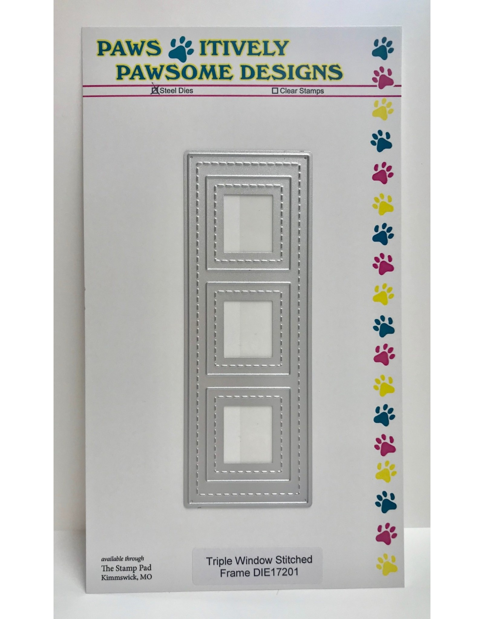 Paws-Itively Pawsome Designs Triple Window Stitched Frame - Die