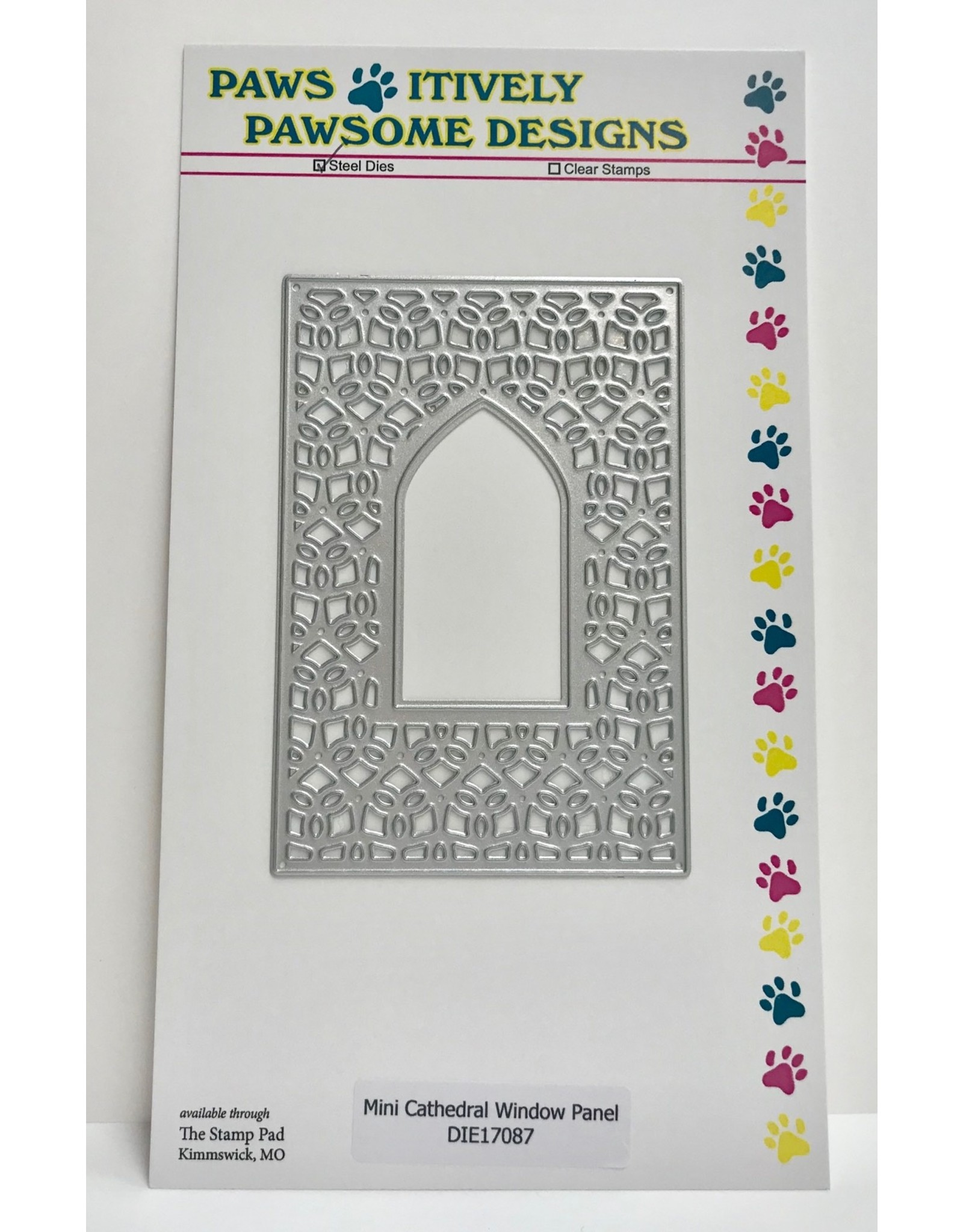Paws-Itively Pawsome Designs Mini Cathedral Window Panel - Die