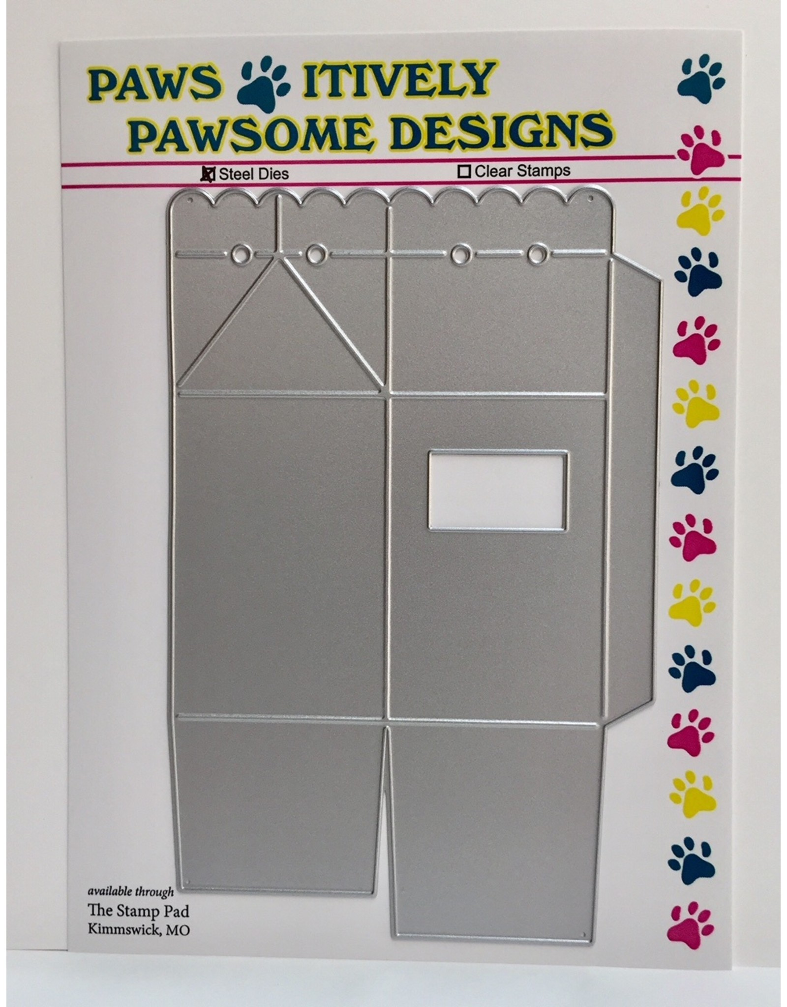 Paws-Itively Pawsome Designs Scallop Top Window 3-D Carton - Die