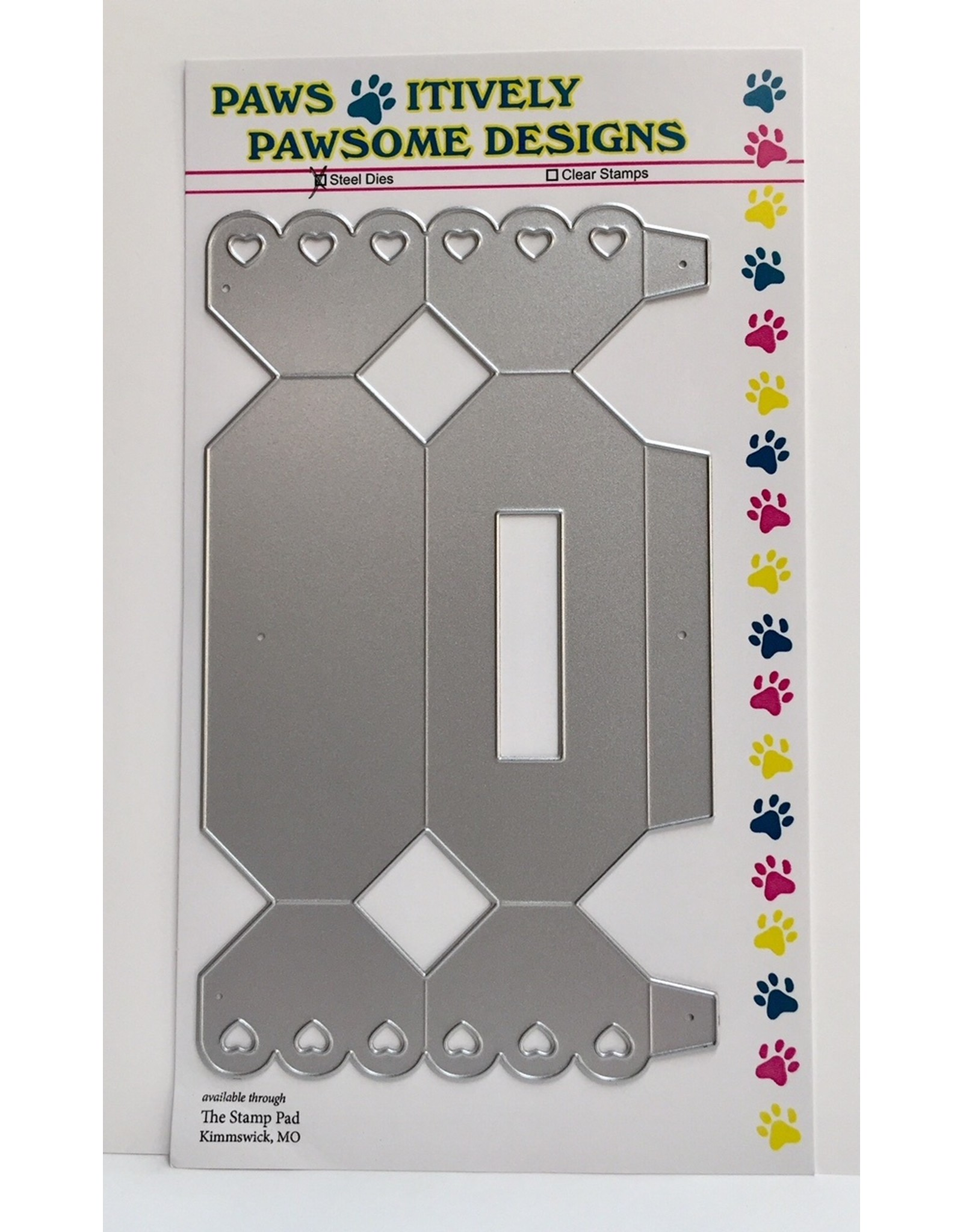 Paws-Itively Pawsome Designs Scalloped Candy Roll 3-D Box - Die