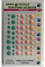 Paws-Itively Pawsome Designs Nibblers - Dots Sherbet