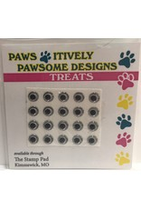 Paws-Itively Pawsome Designs Small Eyes - Silver 5mm (Qty 20)