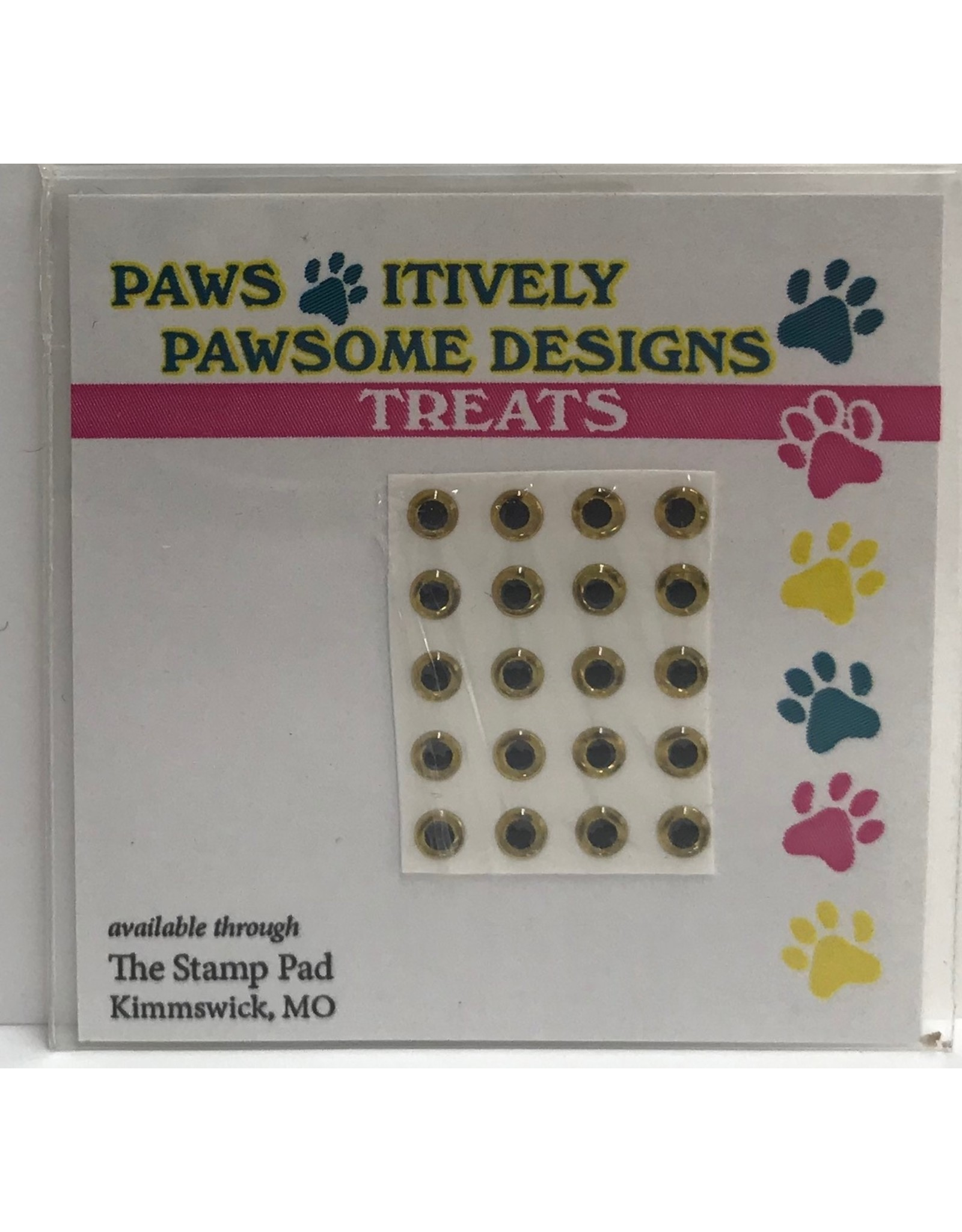 Paws-Itively Pawsome Designs Tiny Eyes - Gold 3mm (Qty 20)