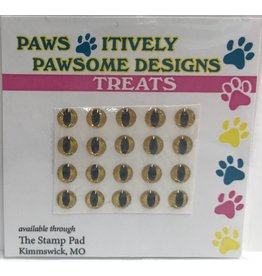 Paws-Itively Pawsome Designs Small Eyes (Cat/Frog or Reptile) - Gold 5mm (Qty 20)