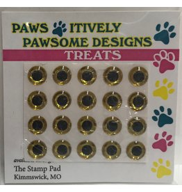 Paws-Itively Pawsome Designs Medium Eyes - Gold 7mm (Qty 20)