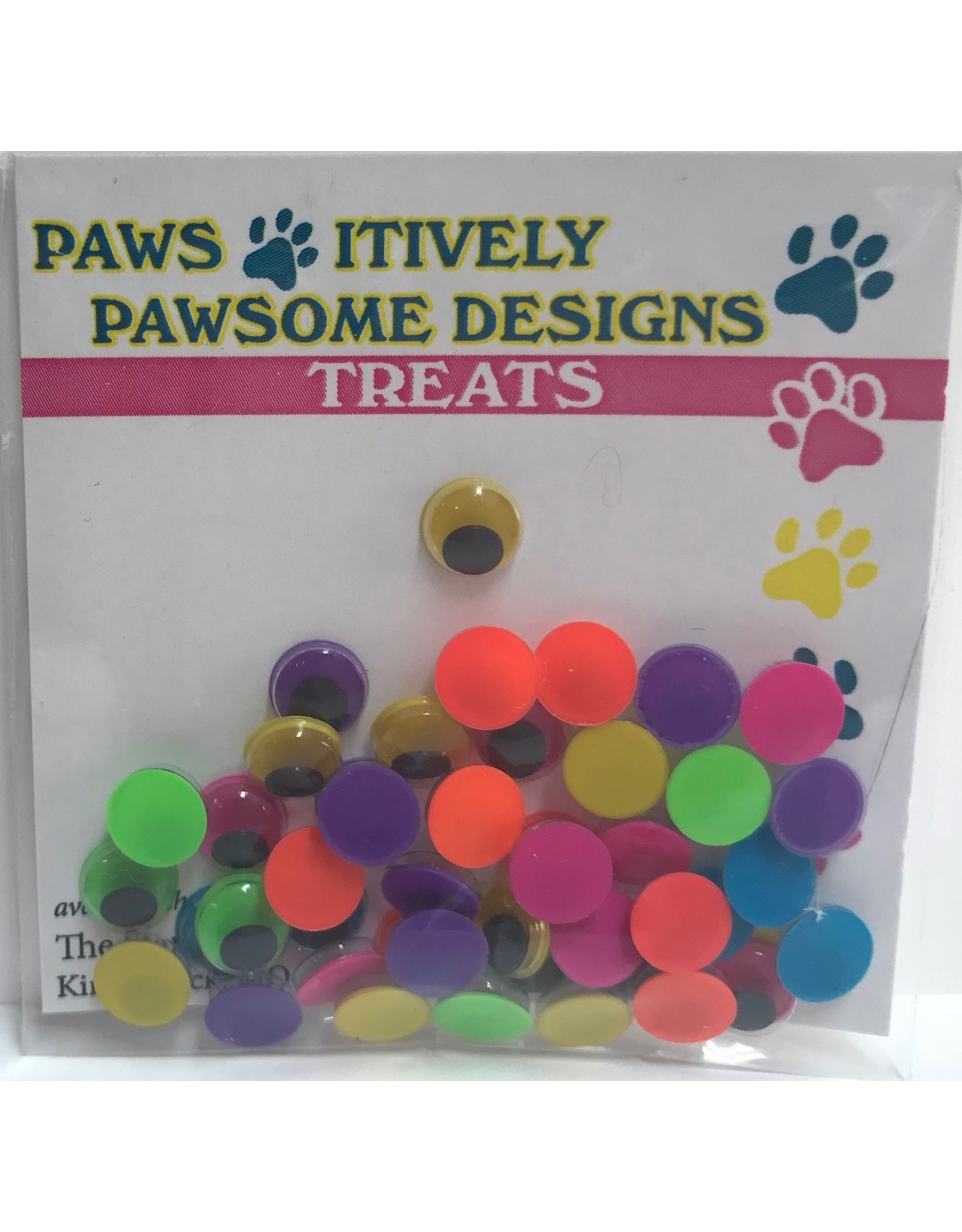Paws-Itively Pawsome Designs Wiggle Eyes (Neon) - 7mm (Qty approx 44)