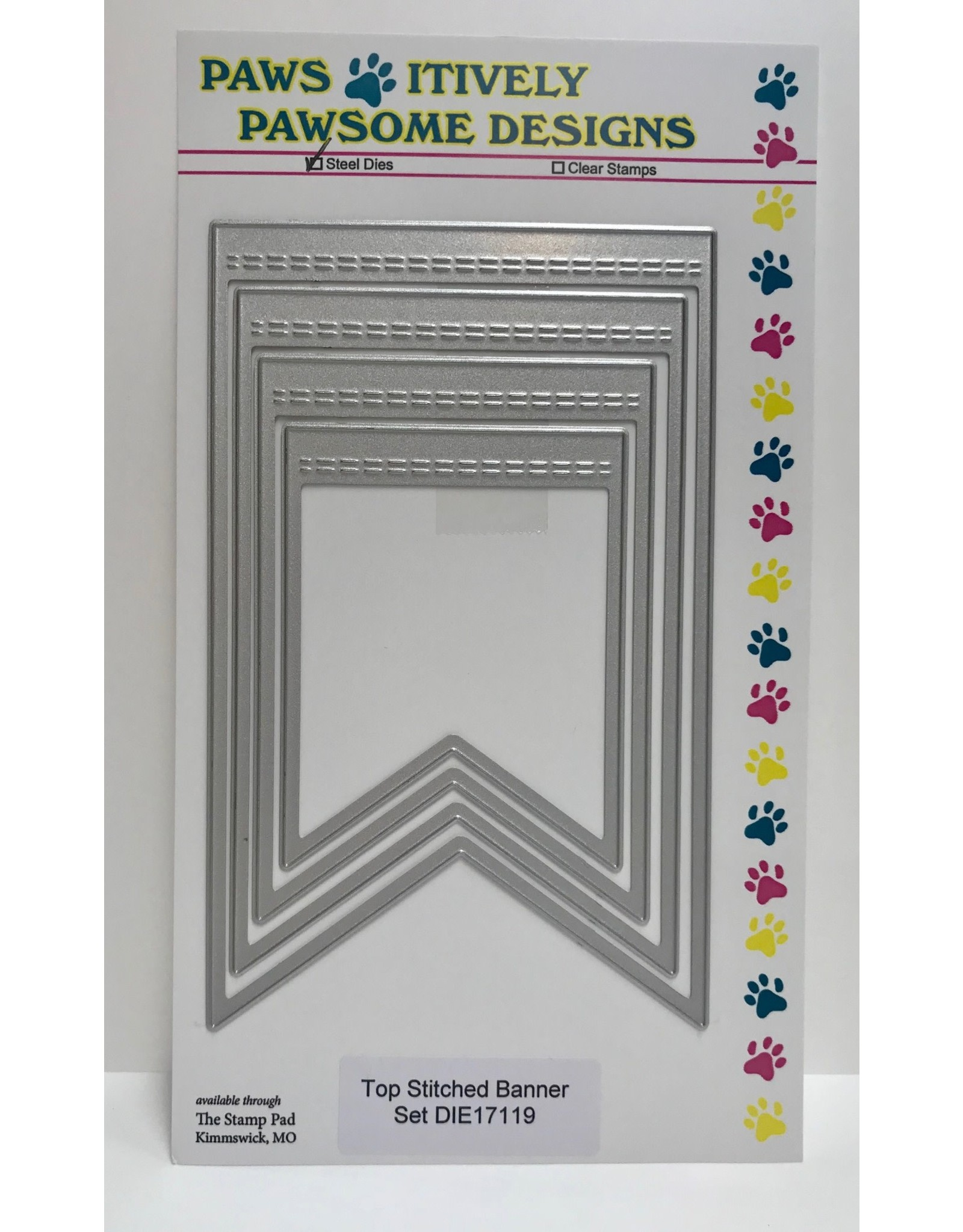 Paws-Itively Pawsome Designs Top Stitched Banner Set - Die
