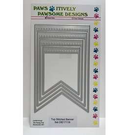 Paws-Itively Pawsome Designs Top Stitched Banner Set