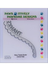 Paws-Itively Pawsome Designs Wavy Thanks Border - Die