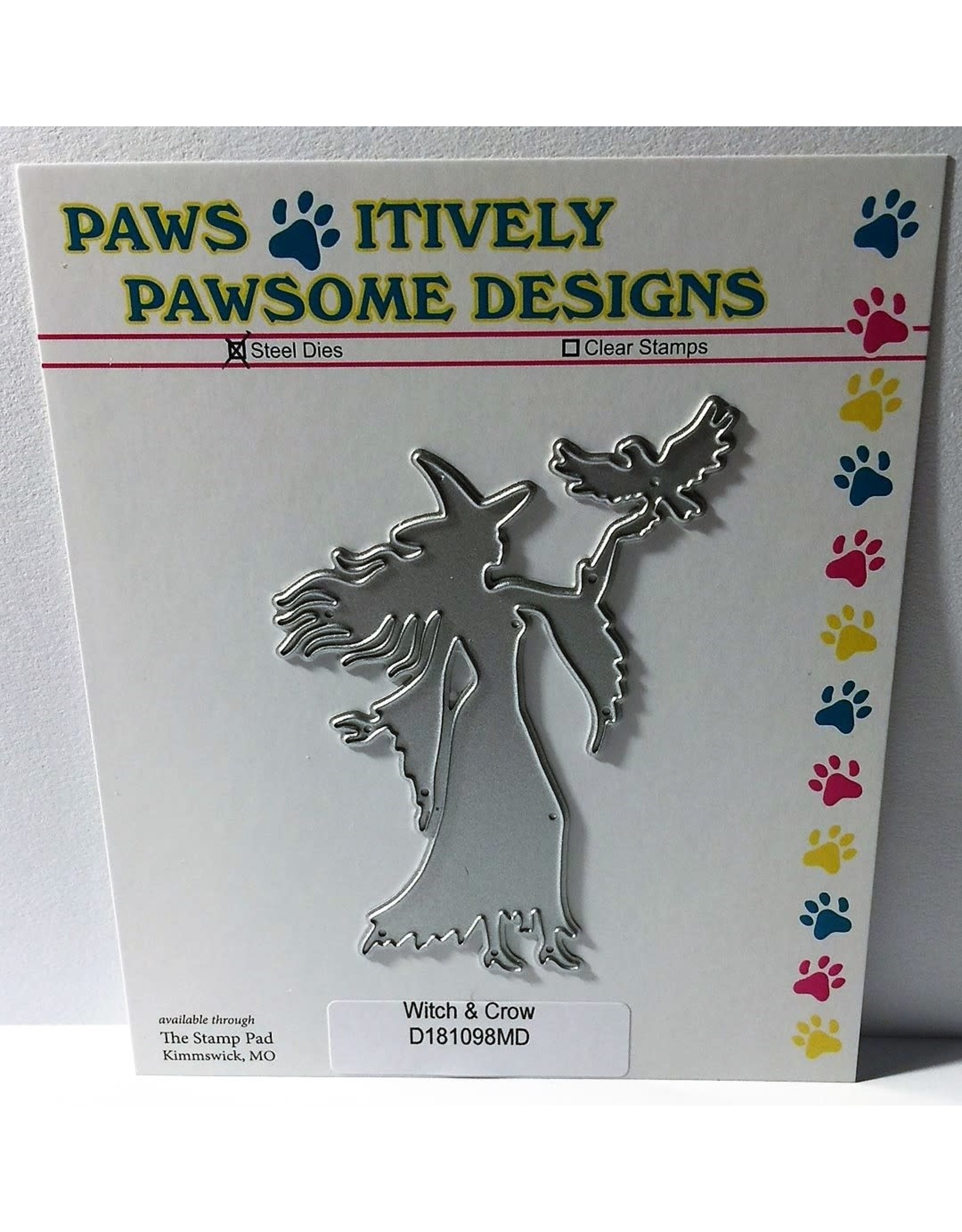 Paws-Itively Pawsome Designs Witch & Crow - Die