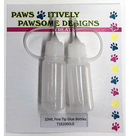 Paws-Itively Pawsome Designs 10ML Fine Tip Glue Bottles
