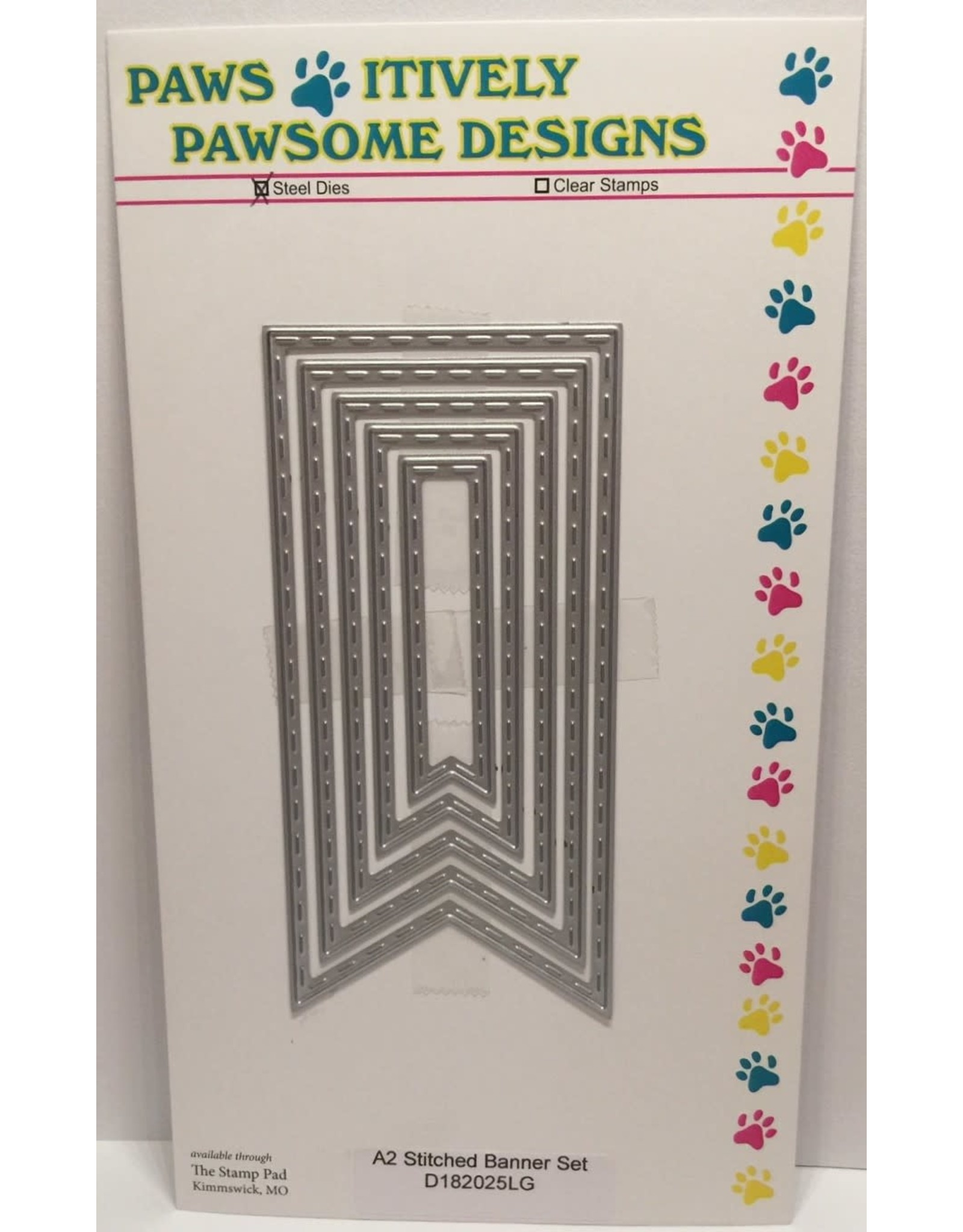 Paws-Itively Pawsome Designs A2 Stitched Banner Set - Die