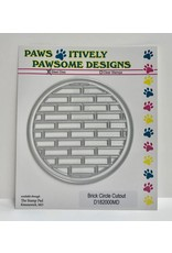 Paws-Itively Pawsome Designs Brick Circle Cutout
