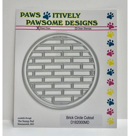 Paws-Itively Pawsome Designs Brick Circle Cutout - Die