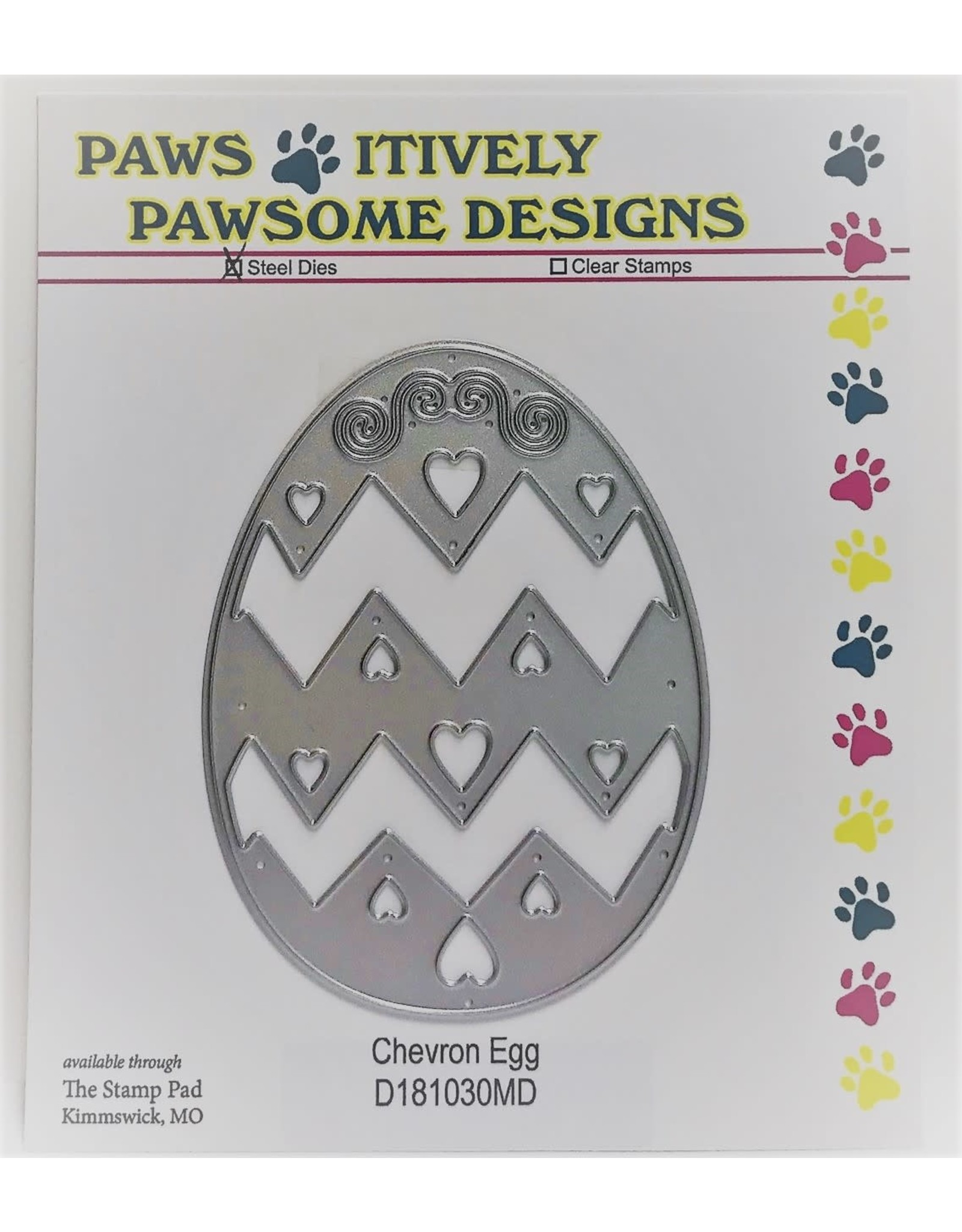 Paws-Itively Pawsome Designs Chevron Egg - Die