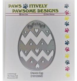 Paws-Itively Pawsome Designs Chevron Egg
