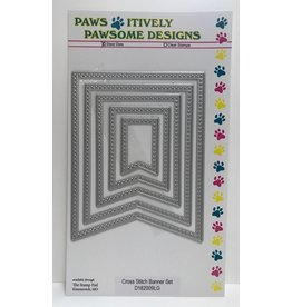 Paws-Itively Pawsome Designs Cross Stitch Banner Set - Die
