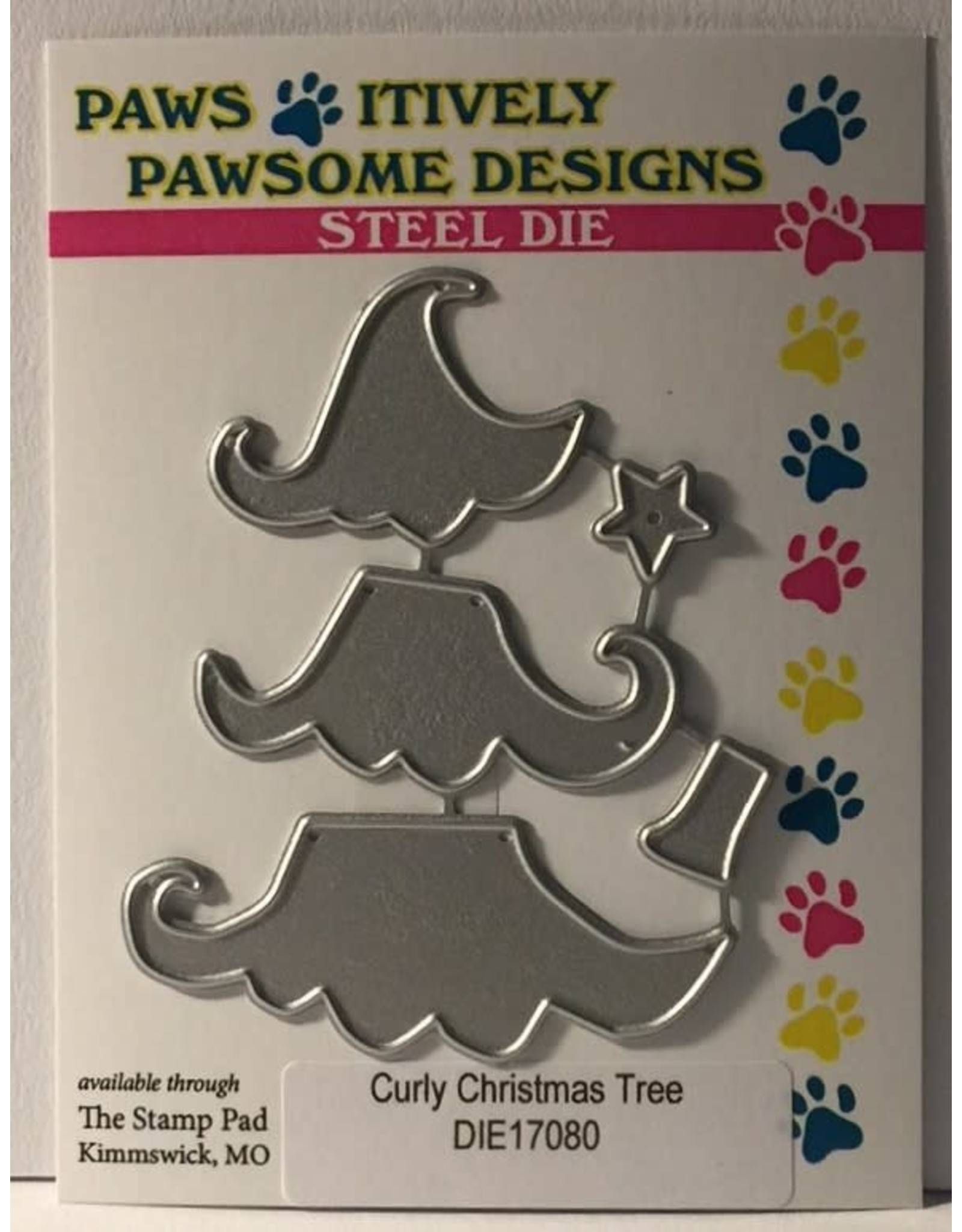 Paws-Itively Pawsome Designs Curly Christmas Tree - Die