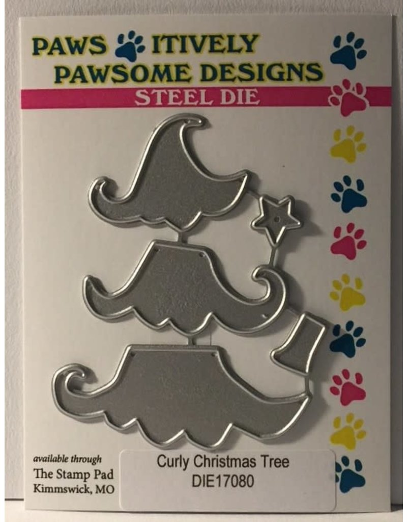 Paws-Itively Pawsome Designs Curly Christmas Tree