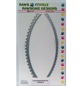 Paws-Itively Pawsome Designs Curved Stitched Border Duo - Die